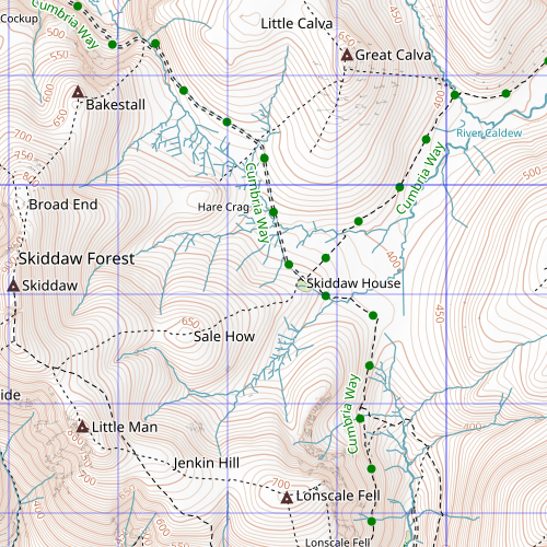 New waymaps: Cumbria Way alternate